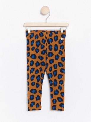 Brown leggings with leopard print Brown