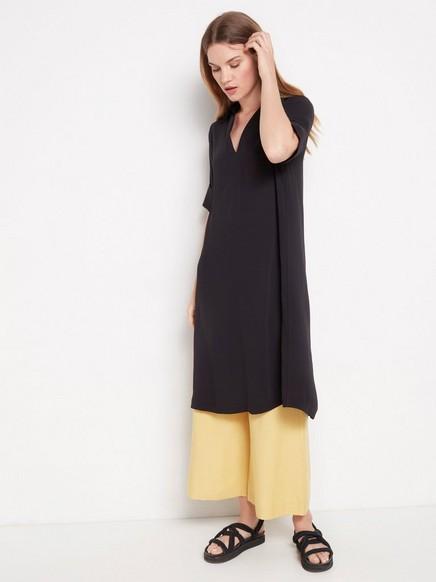 Svart kortermet kjole Svart