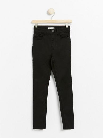 Black slim fit high waist jeans with super stretch Black