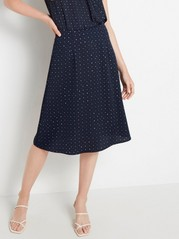Skirt with print  Blue