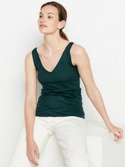 Reversible linen tank top  Green