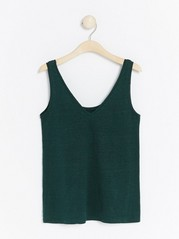 Reversible linen tank top  Green