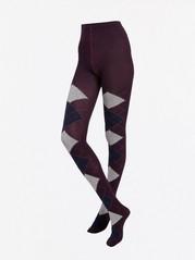 Punčochové kalhoty se vzorem Fialová