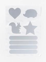 Reflekterande klistermärken Metallic