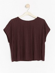 Ribbed top with lustre  Brown