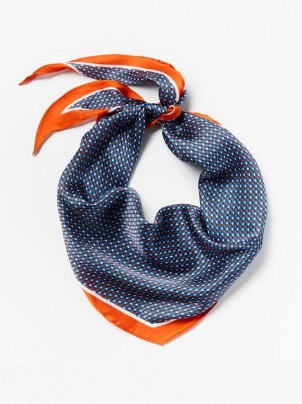 Mønstret hårskjerf Oransje