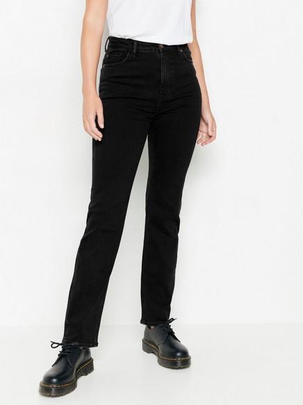Svart jeans med høyt liv Svart