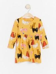 Šaty sdlouhými rukávy Žlutá