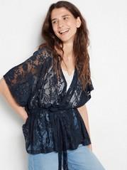 Navy blue lace kimono  Blue