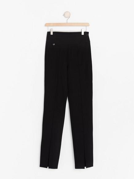 Kalhoty svysokým pasem Černá
