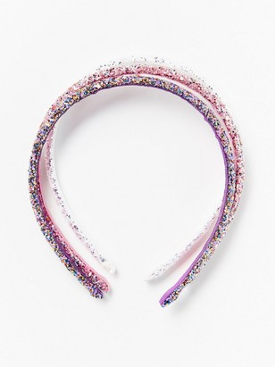 3-pack glittery alice bands Pink