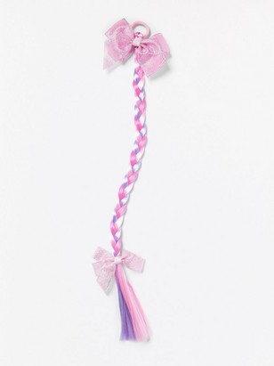 Gumička do vlasů scopem atřpytivými mašličkami Růžová