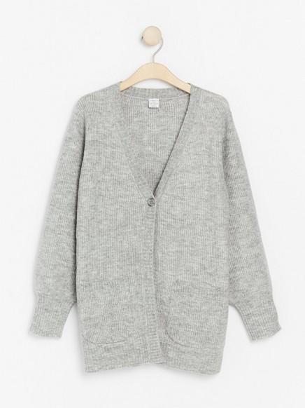 Grey knitted cardigan Grey