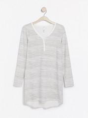 Pruhovaná noční košile Bílá