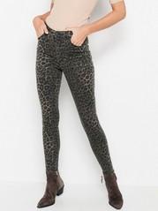 VERA Leomönstrade skinny jeans med high waist  Grå