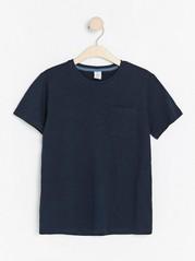 Short sleeve slub jersey t-shirt Blue