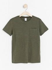 Short sleeve slub jersey t-shirt Green