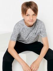 Melírované tričko Šedivá