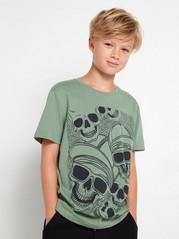 Short sleeve t-shirt with print Khaki