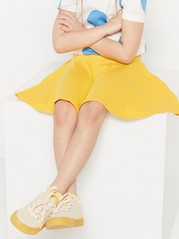 Jersey skater skirt Yellow