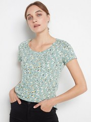 Patterned cotton top  Green