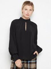 Black mock neck blouse Black