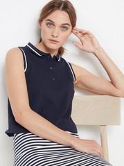 Sleeveless polo shirt  Blue