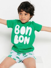 Short sleeve t-shirt with print Green