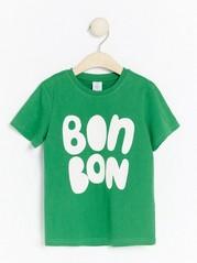Kortärmad t-shirt med tryck Grön