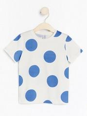 Kortärmad t-shirt med tryck Blå