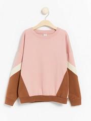 Sweatshirt with colour blocks Pink