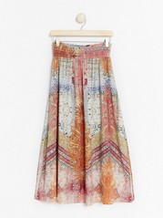 Patterned maxi skirt with smock  Red