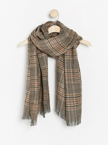Checkered scarf Brown