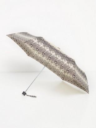 Slangemønstret paraply Beige