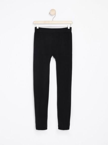 Mustat saumattomat leggingsit Musta