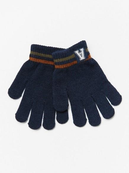 Finstrikkede hansker Blå