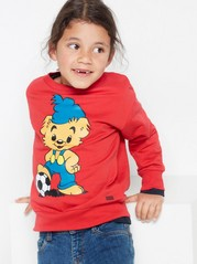 Oversized red sweatshirt with Bamse print Red