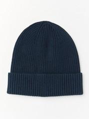 Žebrovaná čepice Modrá