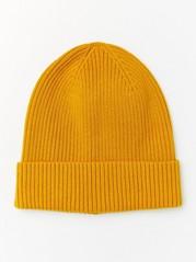 Žebrovaná čepice Žlutá