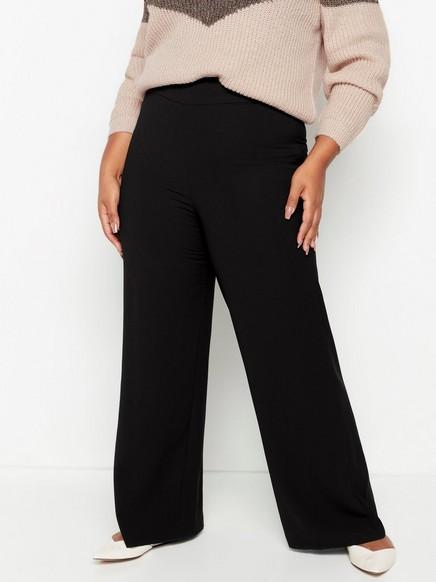 Široké černé kalhoty LYKKE Černá