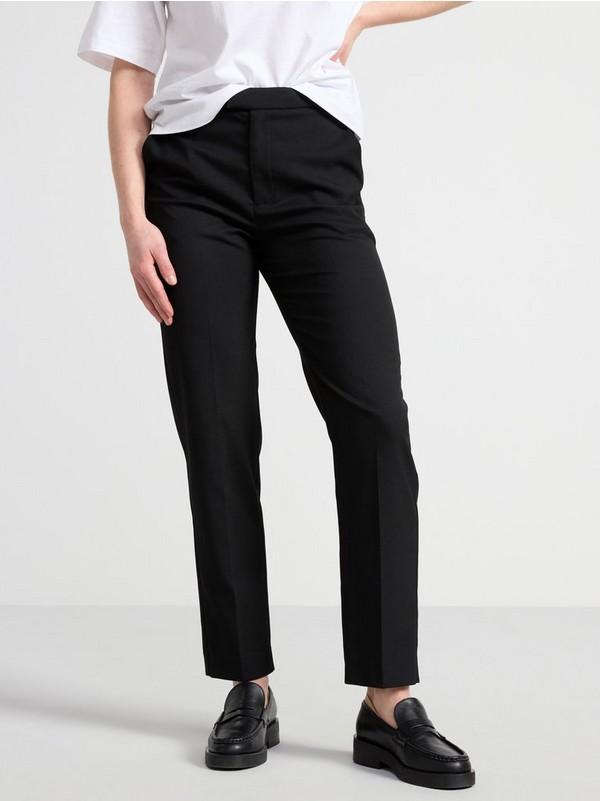 Easy Trouser.Classic Bukser Med Rette Ben