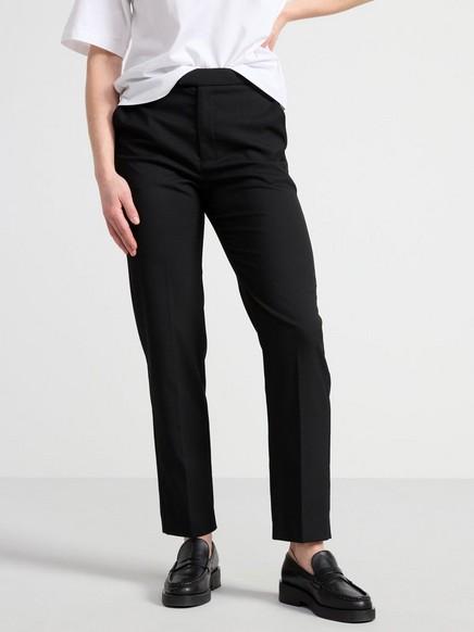 POLLY – Vajaamittaiset korkeavyötäröiset housut Musta