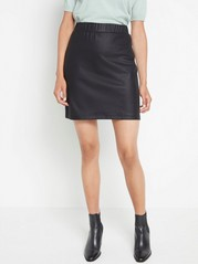 Coated black skirt  Black
