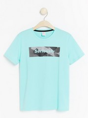 Short sleeve t-shirt with print Turquoise