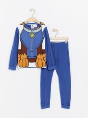 Modré pyžamo spotiskem Tlapkové patroly Modrá