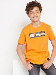 Short sleeve t-shirt with print Orange