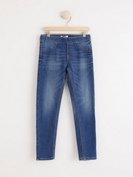 Slim fit jeggings Blå