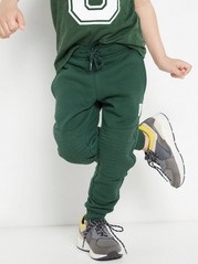 Sweatpants with reinforced knees Green
