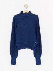 Knitted jumper with wide sleeves  Blue