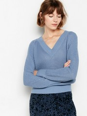 Knitted v-neck jumper  Blue